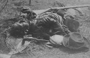 One of Ewell's Corps as he lay on the field, after the battle of the 19th May, 1864.