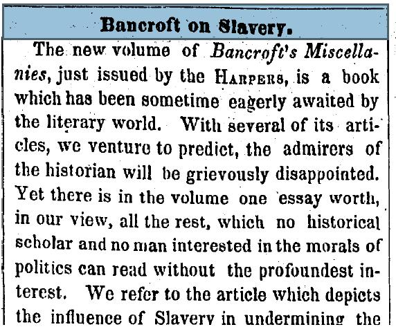 strong thesis statement on slavery