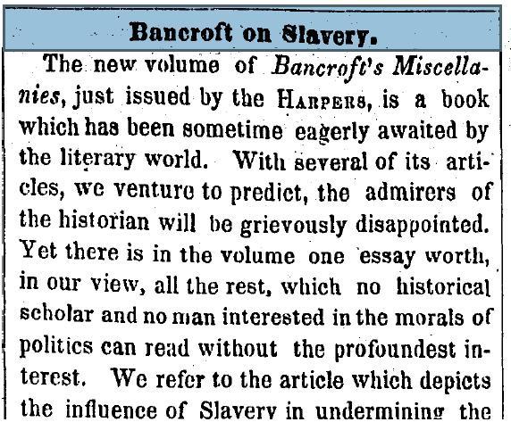 Bancroft on Slaverypdf
