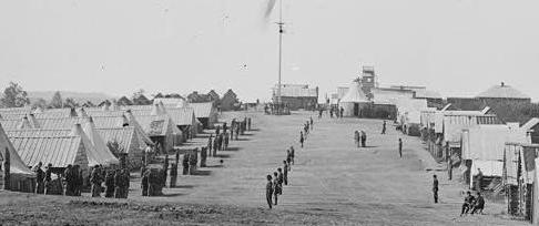 "Prospect Hill, Virginia. Camp of the 13th Regiment New York Cavalry. (""SeymourLight"")"
