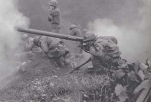 75-mm. Recoilless Rifle in Action