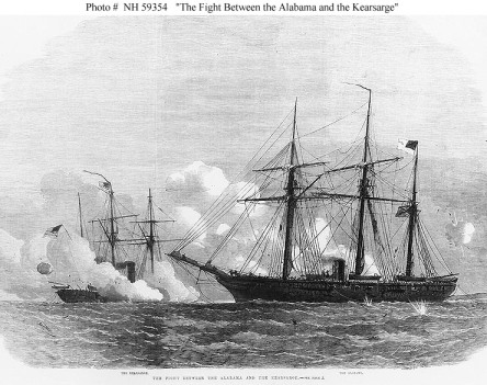 """The Fight Between the Alabama and the Kearsarge"" [NH59354]"