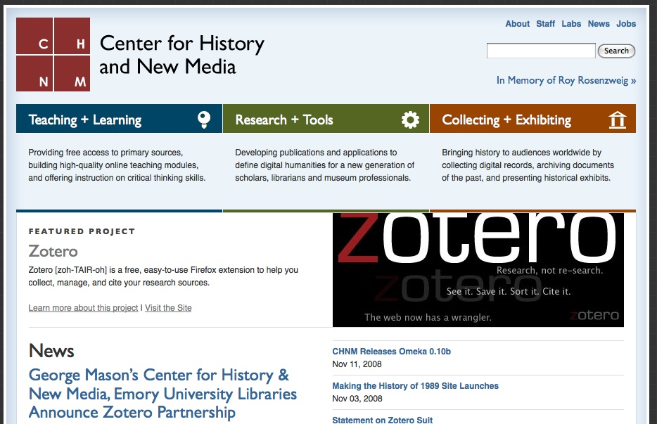 Fantastic Site – George Mason's Center for History and New Media