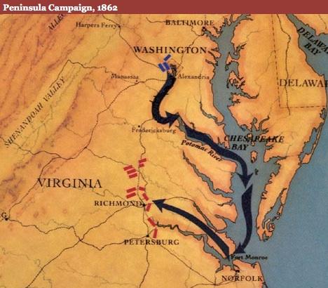 Peninsular Campaign Map