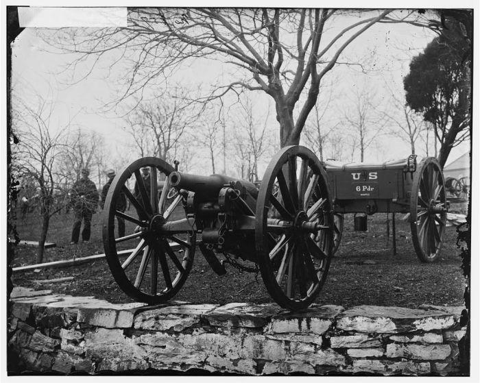 Washington, D.C. Wiard 6-pdr. gun at the Arsenal Source: LOC Digital ID: cwpb 04276